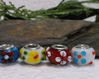 20 Murano Lampwork Embellished Beads