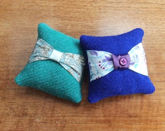 Pair Of HARRIS TWEED Lavender Bags, Scented Sachet, Lavender Pillow,  Handbag Sachet,