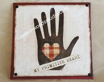 My Primitive Heart Canvas Block of the Month (Block Only)