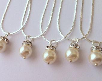 5 Bridesmaid Gift Necklaces, Simple & Elegant - gift under 15