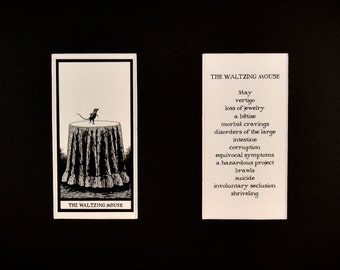 The Waltzing Mouse - Matted Fantod Cards By Edward Gorey