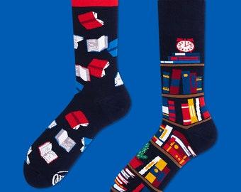 The Book Story Socks | men socks | colorful socks | socks | mismatched socks | womens socks | patterned socks | crazy sock | Many Mornings