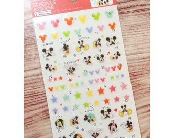 Mickey Mouse Schedule Stickers
