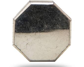 Devanshi Octagonal Silver Mirror Glass Cabinet Drawer Knob Cupboard Dresser Pull