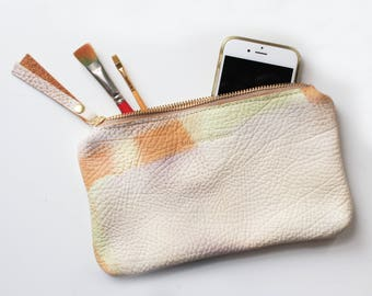Abstract Hand Painted Clutch Bag