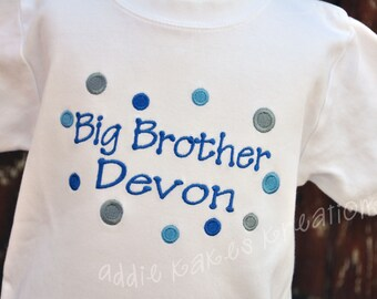 Personalized Polka Dot Big Brother Shirt