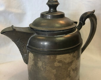 Rare 1850-1899 Silver on Nickel Manning Bowman Tea Pot