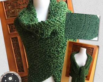 Outlander Inspired Extra Large Hand Knit Shawl Wrap FREE SHIPPING