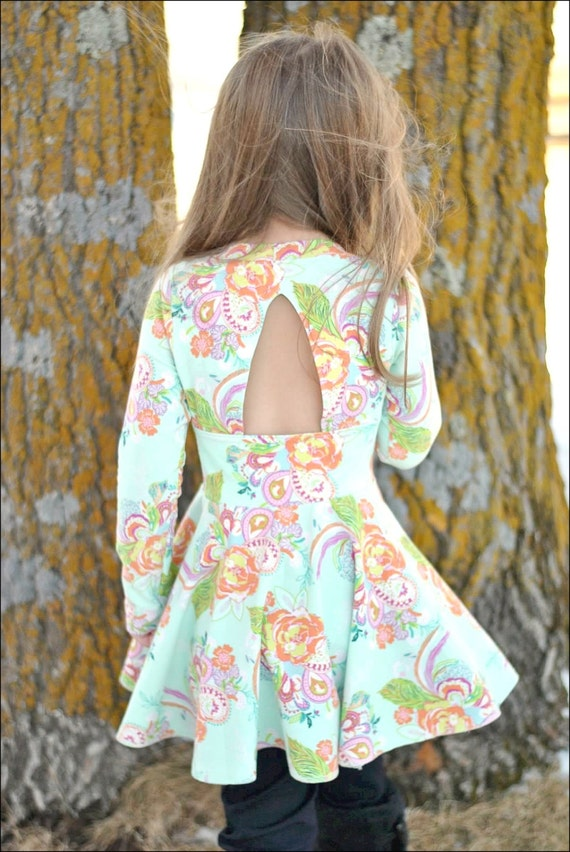 Paisley\'s Open Back Peplum Top & Dress. PDF sewing pattern