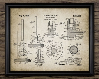 Bunsen Burner Patent Print - Bunsen Burner Illustration - Laboratory Science - Chemistry Student - Single Print #576 - INSTANT DOWNLOAD