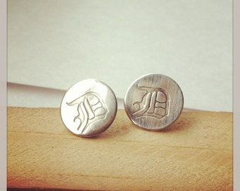 Made in the D Detroit sterling post earrings