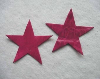 set of 2 large stars #15 leather