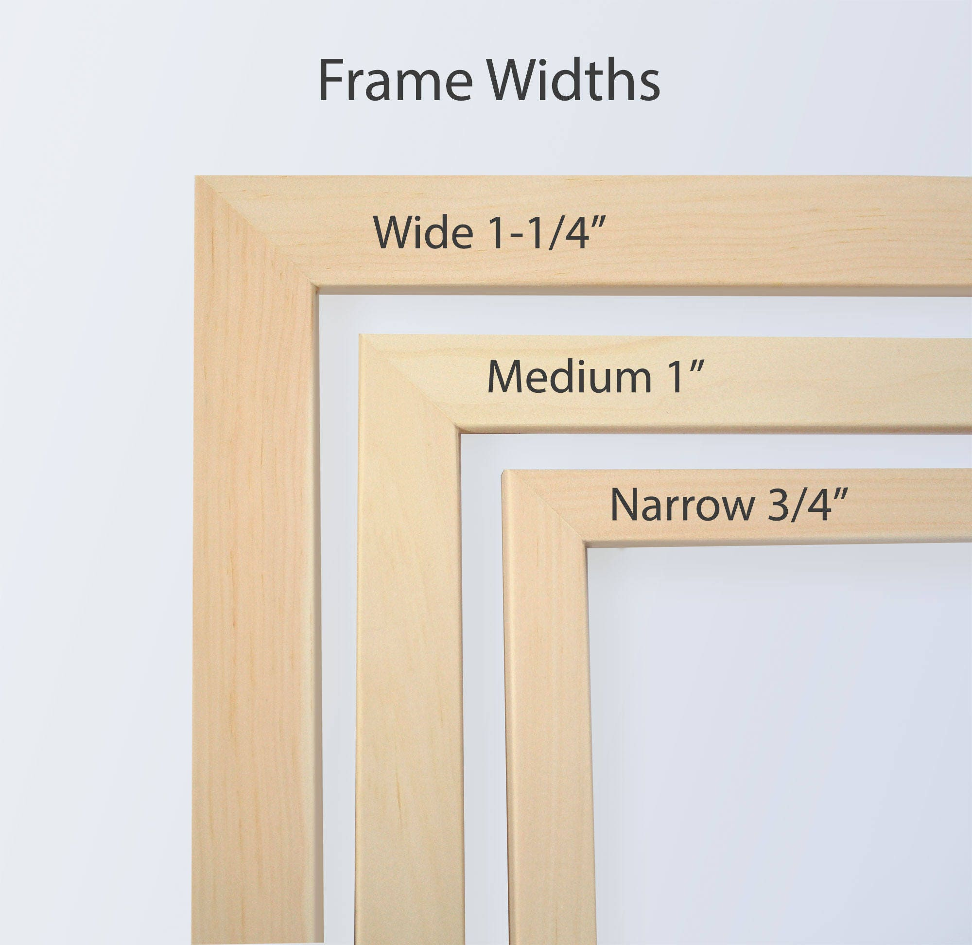 5x5 Picture Frame, Cross Stitch, Natural Wood Frames, Needlepoint ...