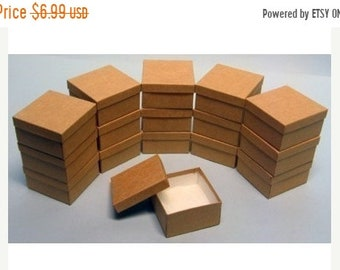 TAX SEASON Stock up 10 Pack Kraft Color Deep Cotton Filled Jewelry Gift Retail Boxes 3.5 X 3.5 X 2 Inch Size