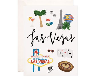 Illustrated Las Vegas Card