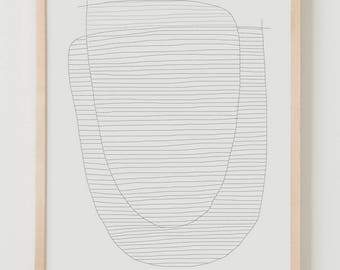 Fine Art Print.  Stripe Study August 8, 2017.