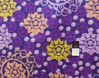 CLEARANCE Free Spirit Design Loft PwFS025 Chiffon Medallion Purple Cotton Fabric 1 Yard