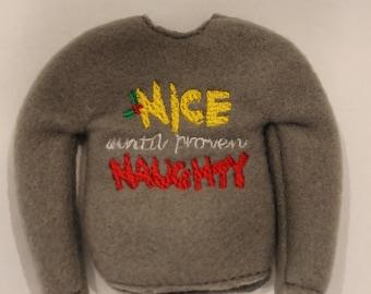 Elf Nice until Naught Sweater