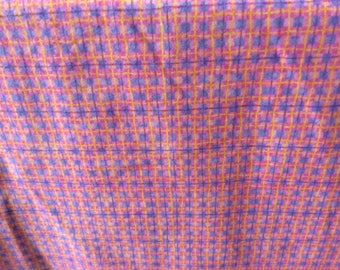 Pink Plaid Flannel Fabric