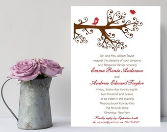 10 Adorable Love Bird Rehearsal Dinner Invitations - Bird Rehearsal Dinner Invitation - Wedding Rehearsal Invitation - Wedding Rehearsal