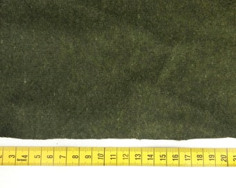 Recycled broadcloth- dark olive green