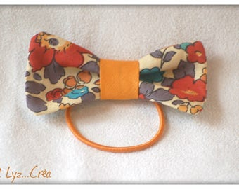 Elastic bow in Liberty Betsy Terracotta