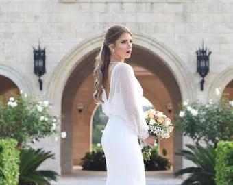 Bridal Bolero, Bridal Shrug, Long Sleeve Bridal Bolero, Long Sleeve Bridal Shrug