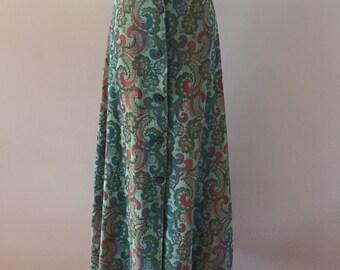 1970's Vintage Tapest ry Maxi Skirt