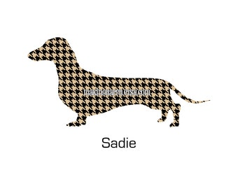 CHOOSE YOUR BREED And Color Personalized HOUNDStooth Dog Print