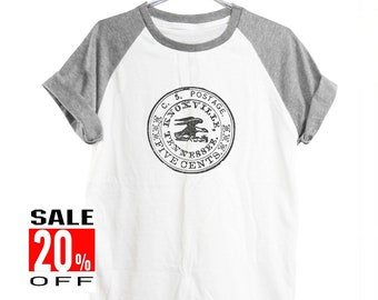 Postal Stamp shirt eagle shirt blogger shirt quote tee funny shirt quote shirt instagram tee graphic tee women top men shirt size S M L