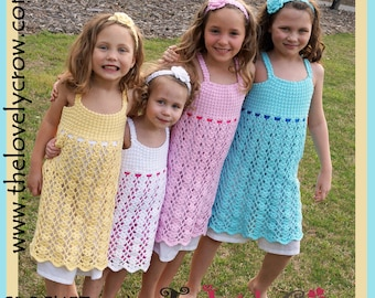 Crochet Pattern Girls Dress BELA LENA DRESS