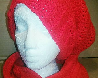 Crochet Hat and Scarf  ( Cowl ) Set