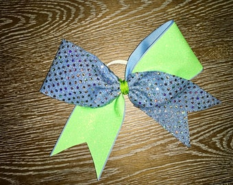Lavender and Lime Cheer Bow