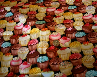 "One Yard Cut of ""Cupcake"" fabric by Timeless Treasures GM-C 5993"