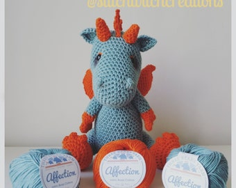 DYLAN the DRAGON Amigurumi Crochet Pattern - PDF instant download