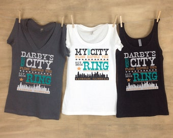 Windy City Fling Before The Ring Chicago Bachelorette Party Tanks or Tees