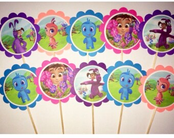 12 Kate and Mim Mim birthday decorations, Kate and Mim Mim party favors, Kate and Mim Mim cupcake toppers OR party tags