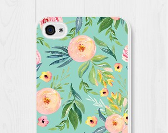Floral iPhone 6s Case iPhone 6 Case Mint iPhone 7 Case iPhone 6 Plus Case iPhone SE Case iPhone 5 Case Samsung Galaxy S7 Case Phone Case