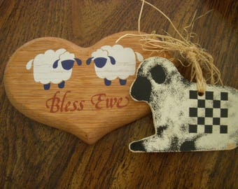 Vintage Sheep Wall Hanging and Sheep Hanging Decoration.
