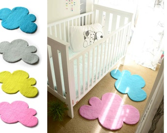 CLOUD RUGS x2, your Selected Colour, Felted Rug, Nursery Rug, Felt Rug, Kids Room Rug, Children decor