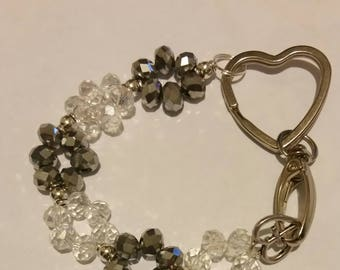 Religious Christian Jewelry Cross Heart keychain Religious Jewelry Christian Bling  KRSVR01