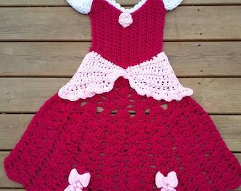 Crochet Princess Dress Blanket, Princess Blanket, Sleeping Beauty Inspired Blanket, Fairy Tale, Dress Blanket, Storytime Blanket, Princess