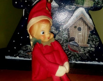 Vintage Christmas Elf with Money Holder