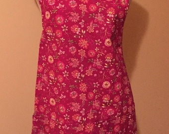 Apron - Pink Floral Lined Apron