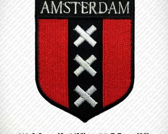 Amsterdam Embroidered Patch Iron on DIY Decorate Clothes Vest Jacket Coat Hat Gap T Shirt Funny Hobby Netherlands