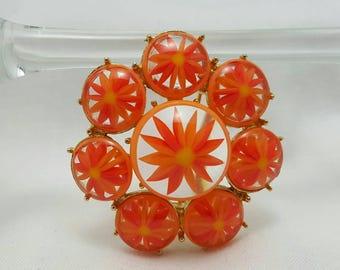 Orange & Yellow Flower Pin