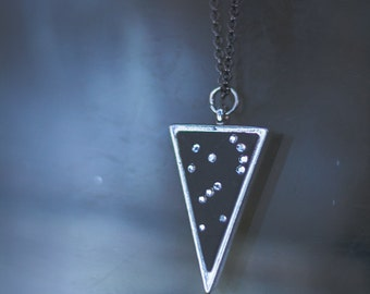 Orion Necklace, Triangle Constellation, Strong Hunter, Crystals, Trine, Stars, Lucky Star Dreams gifts | Lucky Star Dreams