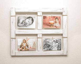 Window Frame - Old Window - Rustic Home Decor - Picture Frame - Window - Mothers Day - Wood Frame - Farmhouse Decor - 4x6 Picture Frame