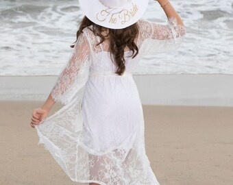 Bridesmaid beach hat, bride Floppy Beach Hat, Floppy Sun Hat, Bride Hat, Custom Personalized Floppy Hat, Beach Bride custom gifts