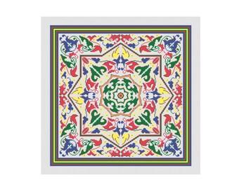 Byzantine  cushion Vintage needlepoint embroidery Cross stitch pattern,pdf pattern, Instant download PDF
